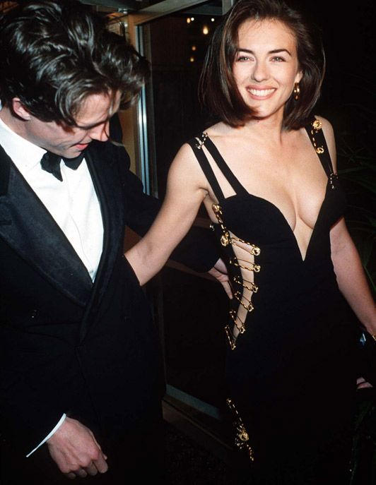 Golden Globes 2014: Miranda Kerr channels Liz Hurley's famous safety pin dress - Telegraph