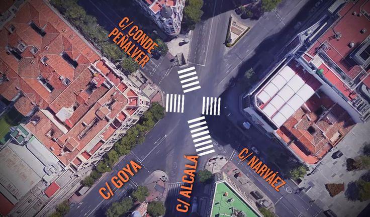Entre las múltiples plazas y rotondas que tiene Madrid, moverse de una esquina a otra es misión imposible sin recorrer antes todo el cuadrilátero con sus respectivos pasos de cebra