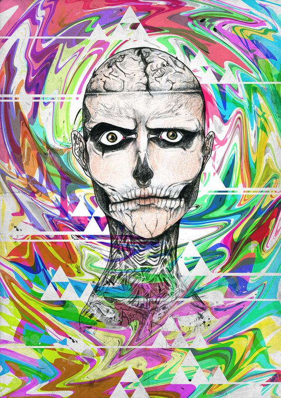 Zombie Boy – Illustrator – Anwar Rafiee: Illustrations Anwar, Boys Rick, Genest Art, Art Prints, Zombies Boys, Bold Art, Anwar Rafi, Curious Brain, Rick Genest