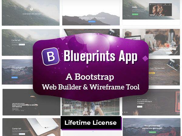Bootstrap Website Builder Wireframe Tool Blueprints App Dealfuel Blueprint App Web Builders Blueprints