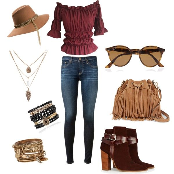 A fashion look from October 2015 featuring AG Adriano Goldschmied jeans, Warehouse ankle booties and Rebecca Minkoff shoulder bags. Browse and shop related loo…