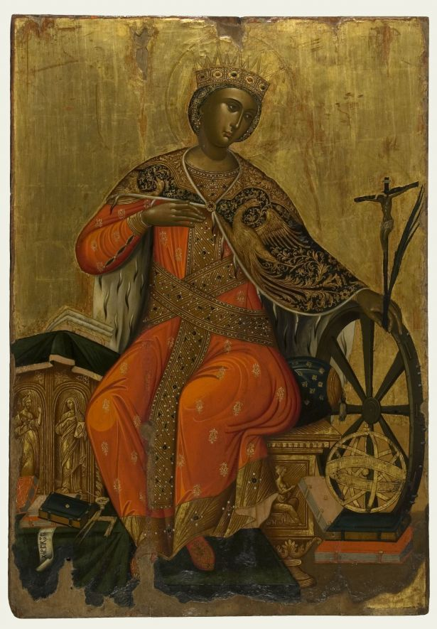 St. Catherine. Painted by Victor. Second half of the 17th century. From Messina. Athens, Byzantine & Christian Museum, BXM 1568. Photo: Véronique Magnes (2012)