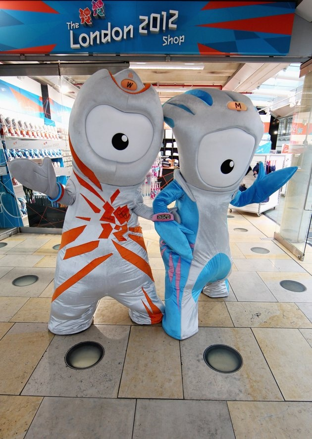 Wenlock and Mandeville are the official mascots for the 2012 Summer Olympics and Paralympics being held in London.