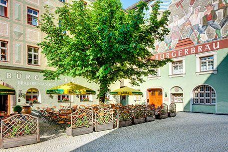 Bad Reichenhall - Bürgerbräu - lecker, schöner Biergarten