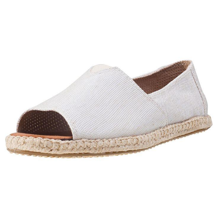 Toms Alpargata Open Toe Womens Espadrilles Natural Shoes