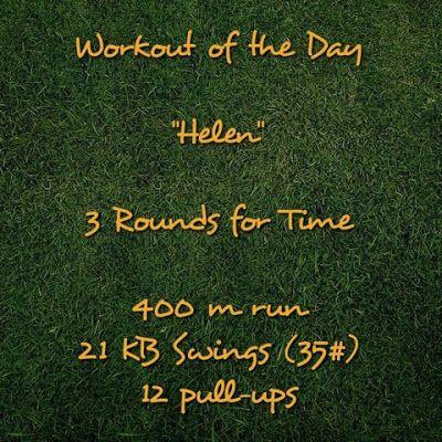 """WOD - """"Helen"""" CrossFit benchmark workout! #workout #wod #crossfit"""