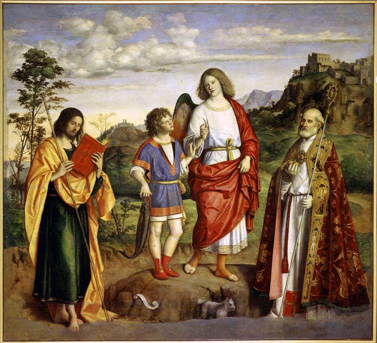 L'arcangelo Raffaele e Tobiolo tra i santi Giacomo e Nicolò