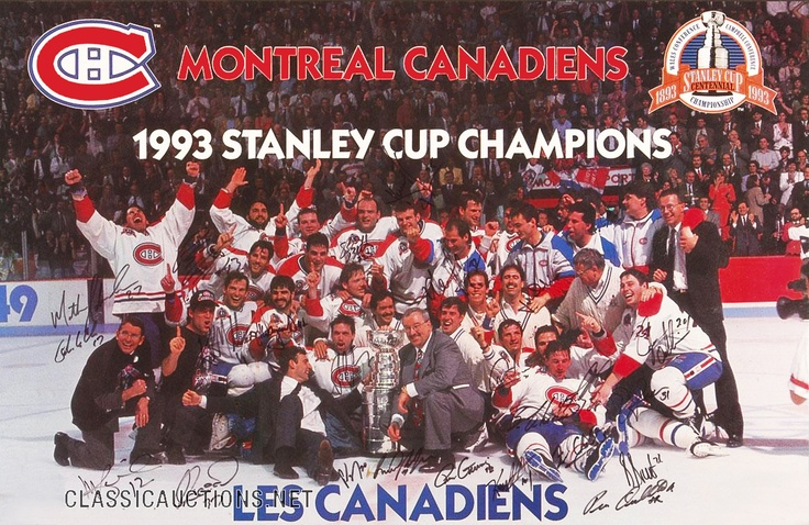 Coupe Stanley 1992-1993 : La saison 1992-1993 est la 76e saison régulière de la Ligue nationale de hockey. C'est la première saison des Sénateurs d'Ottawa et du Lightning de Tampa Bay dans la ligue qui compte maintenant 24 équipes. Pour célébrer le centenaire de la Coupe Stanley, chaque joueur porte un écusson spécifique sur le chandail.