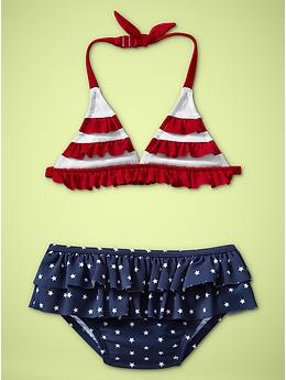 Ruffle red, white, and blue two-piece | Gap