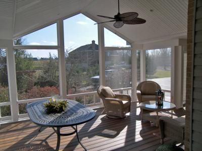 Screened Porch With Fiberon Decking Color Ipe Composite