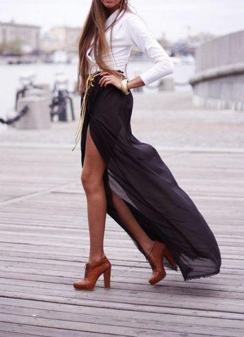 Maxi skirt into Fall!
