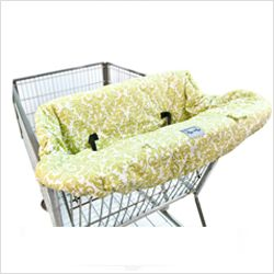 Itzy Ritzy shopping cart cover - one of our favorite baby products at 7 months!