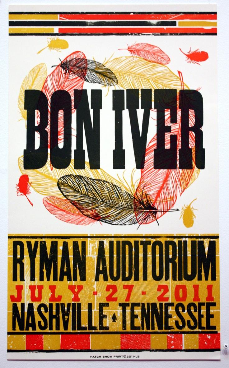 Poster design keywords - Keywords Country Music Poster Bon Iver Hatch Show Print Nashville