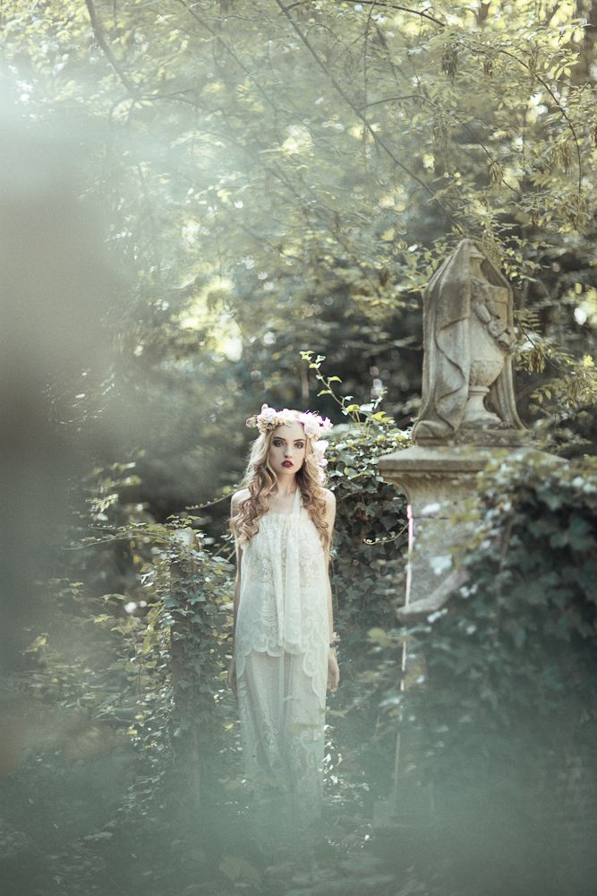 © Emily Soto.  This photo was taken in London, but I'd like to do a shoot like this in the Pere Lachaise Cemetery in Paris.