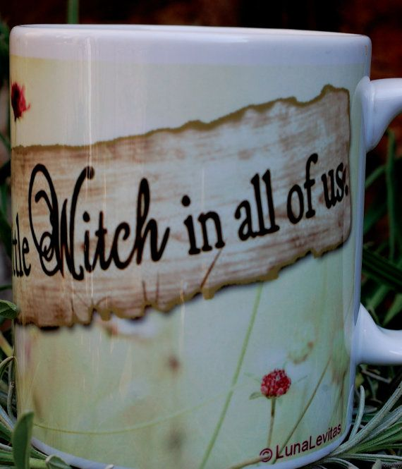 There is a little Witch in all of us Mug  by LunaLevitas on Etsy