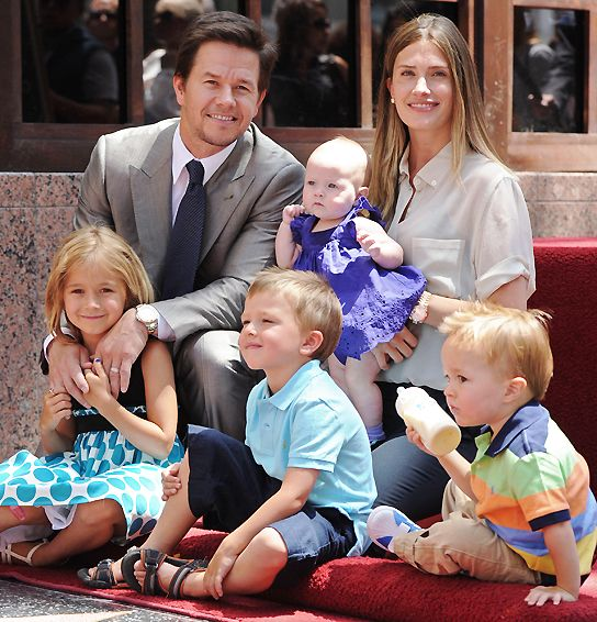Mark, Rhea, Grace, Brendan, Ella and Michael Wahlberg