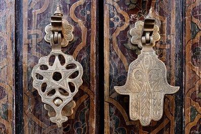 Hand of Fatima Door Knocker in the Medina in Marrakech ~ Grant Rawlings