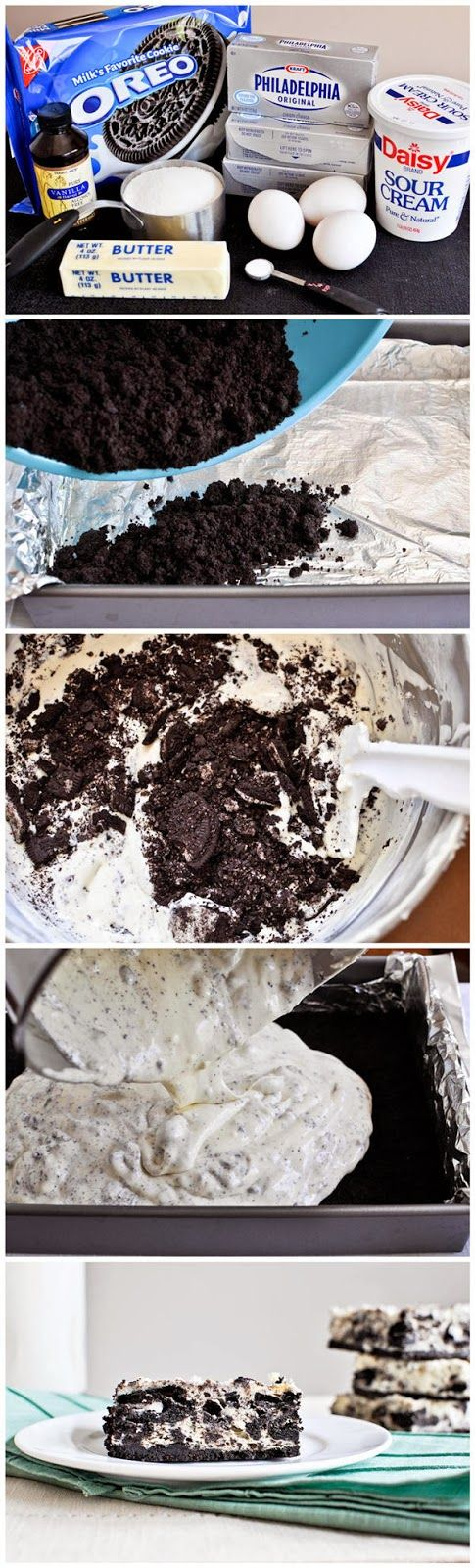 Cookies and Cream Cheesecake Bars ~ toprecipeblog