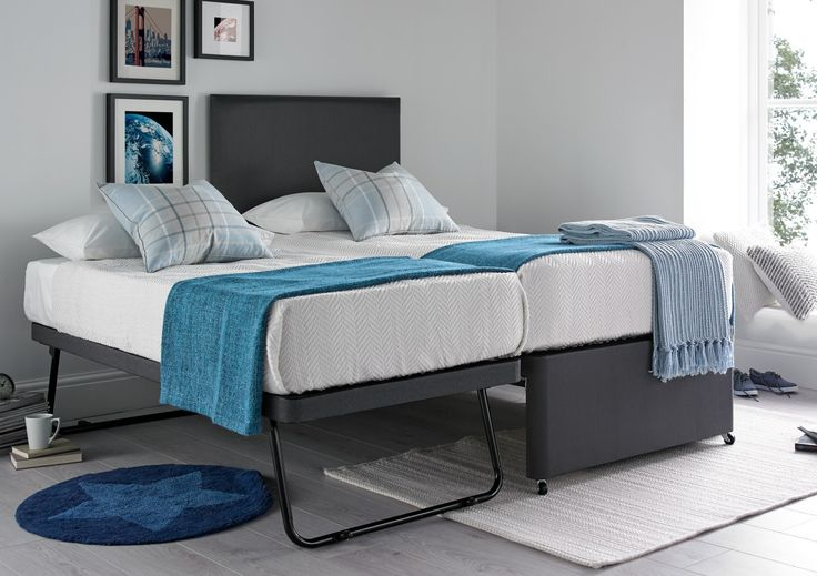 The Cheltenham Guest bed is a practical and great value guest bed which will be a versatile addition to any home.  Simply roll out he under bed frame and raise the spring loaded legs to create an additional bed which can be either used along side the existing bed or even as as a stand alone occasional bed.  The beds are supplied complete with upper and lower mattresses which are open coil sprung microquilted mattresses which have been upholstered with generous layers of fillings.  The upper…