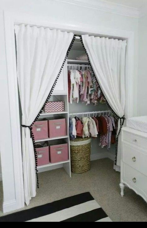 Remove the doors and add curtains :-)