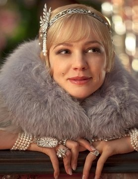 Carey Mulligan The Great Gatsby- I would love to play dress up with all of the accessories and costumes from this movie.  I don't know how they kept track of all the accessories and costumes.  Even the extras for all the party scenes were decked out to the nines!-