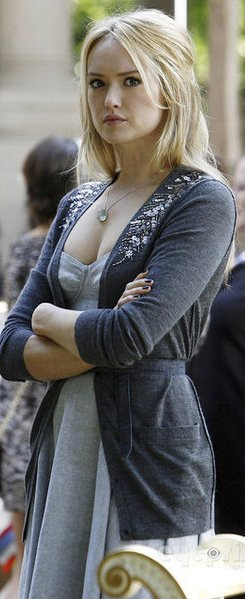 "Kaylee DeFer. Ivy Dickens on Gossip Girl. I don't really ""love"" her, I just think she's really pretty."