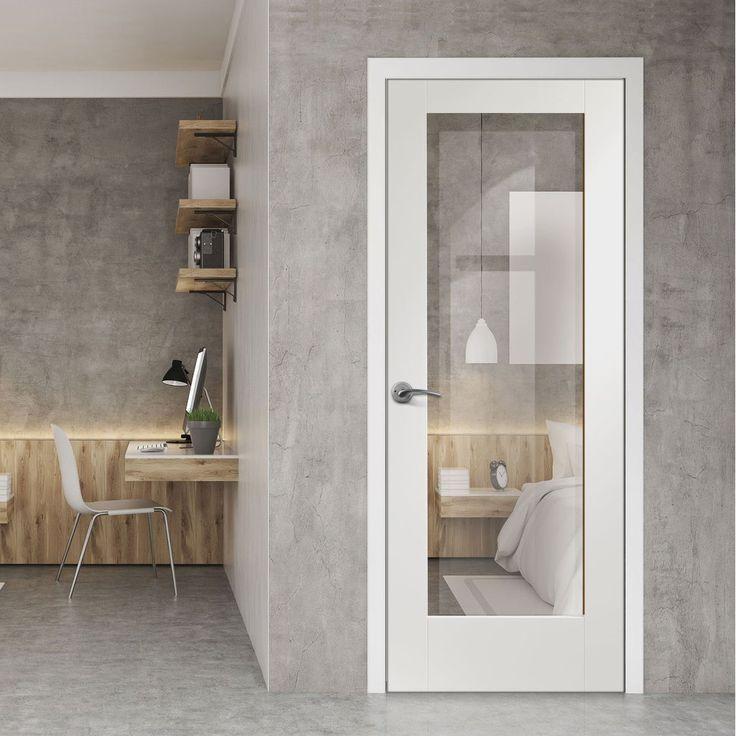 Bespoke Pattern 10 Fire Door with Clear Fire Glass - 1/2 Hour Fire Rated and White Primed.      #bespokedoor #moderninteriordoor #newdoor #dooridea #interiordesitgn #door #doors#bespokefiredoor