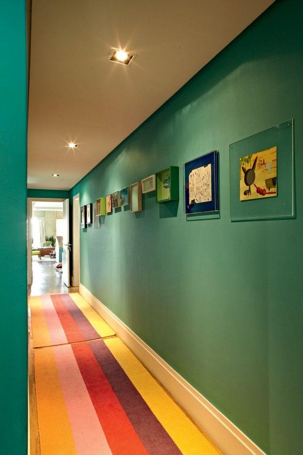 corredor-colorido-verde-Bruna Riscali  (Foto: Victor Affaro/Editora Globo)