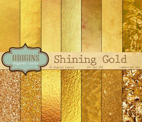 Gold Textured Backgrounds - Textures - 1