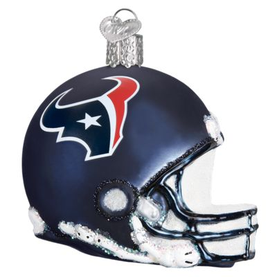 """Houston+Texans+Helmet+Christmas+Ornament+71317+Merck+Family's+Old+World+Christmas+Material: +mouth+blown,+hand+painted+glass+Size: +3.25""""+Comes+in+prepackaged+box+"""