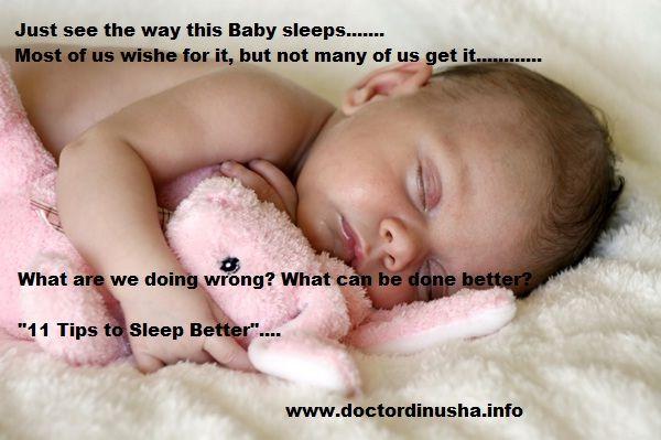 11 Tips To Sleep Better