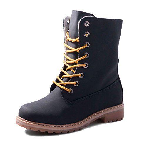 Jumex Damen Winter Schnür Boots Schuhe mit Kunstfell in Lederoptik gefüttert - http://on-line-kaufen.de/jumex/jumex-damen-winter-schnuer-boots-schuhe-mit-in