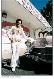 here it is my dream wedding a drive thru in vegas with elvis performing