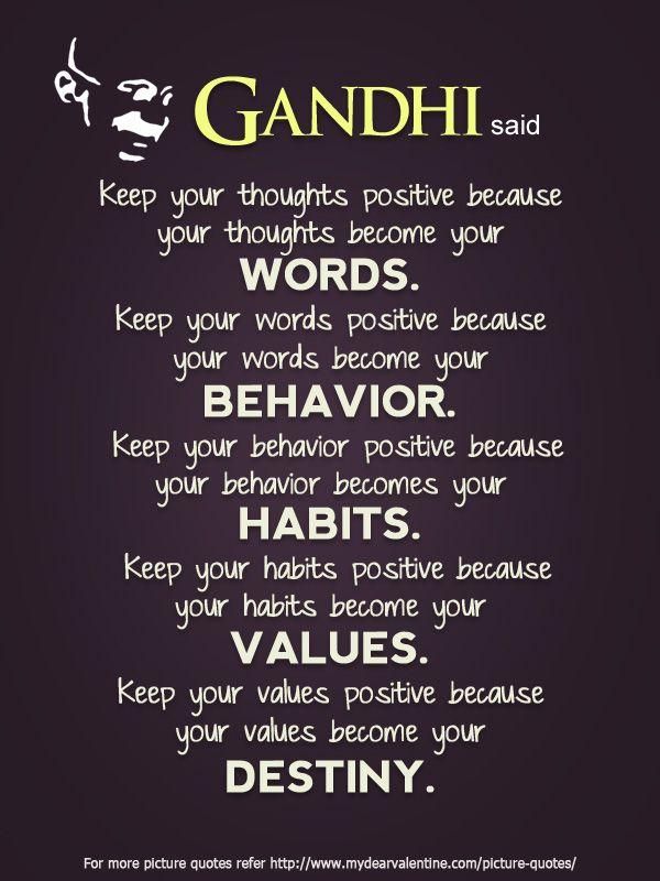 Gandhi said | Picture Quotes | Mydearvalentine.com | Life ...