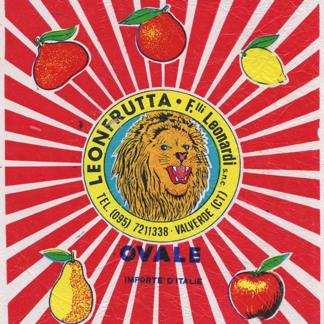Italy. The animal's on fruits' tissue paper.
