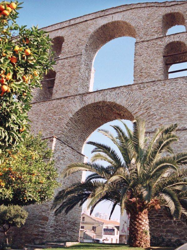 Kavala's aqueduct '' Kamares''