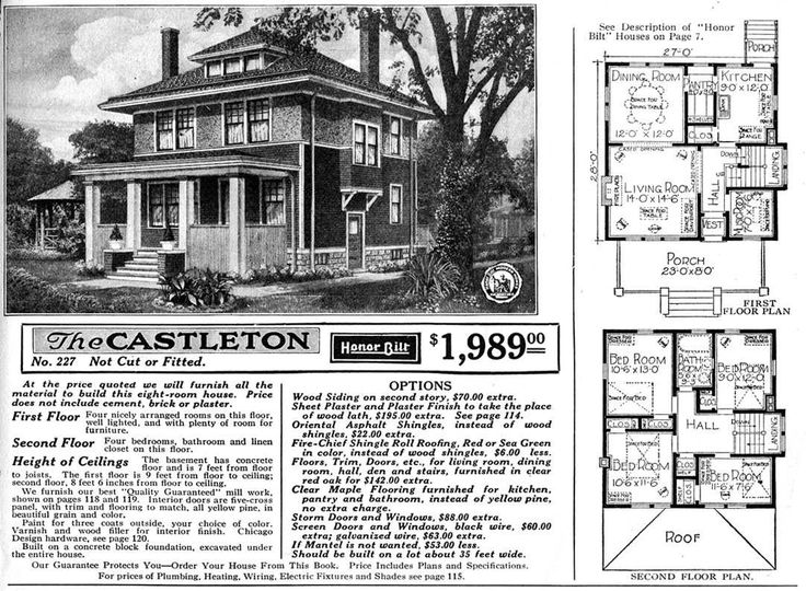 Vintage House Plans 1920 – Billy Knight