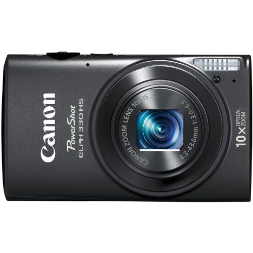Canon PowerShot ELPH Digital Camera with 10x Optical Image Stabilized Zoom with 3-Inch LCD (Black) 330 12.1MP