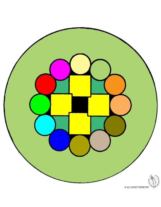 Disegno: Mandala 6. Disegni colorati per bambini da stampare gratis. Puoi stampare, scaricare il disegno o guardare gli altri disegni simili a questo. disegnidacolorareonline.com.