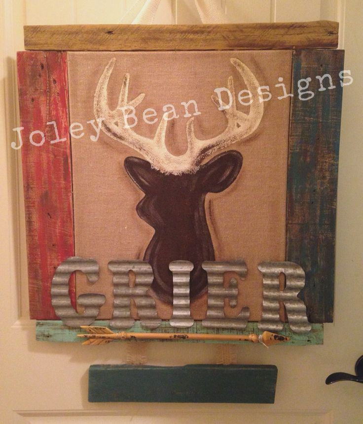 Boy hospital door hanger, deer, hunting, arrows, Joley Bean Designs