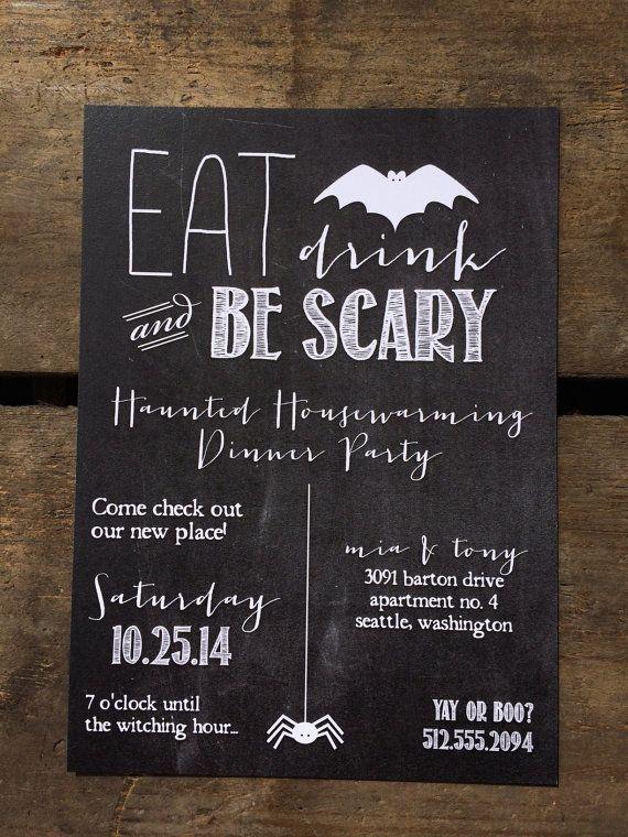 #uitnodiging #flyer #halloween #feestje
