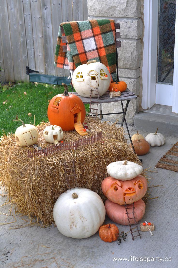 Pumpkin Fairy House Jack-O-Lanterns: this Halloween carve your pumpkins  into fairy