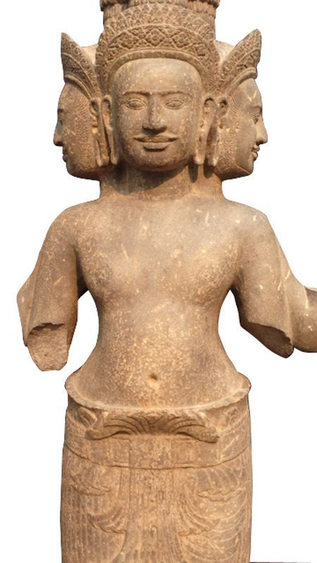 Lot : CAMBODGE Khmer. Siem Reap. Angkor. Phnom Bakheng, X°siècle. - Importante[...] | Dans la vente Art d'Asie à Arnaud Yvos - Var Enchères