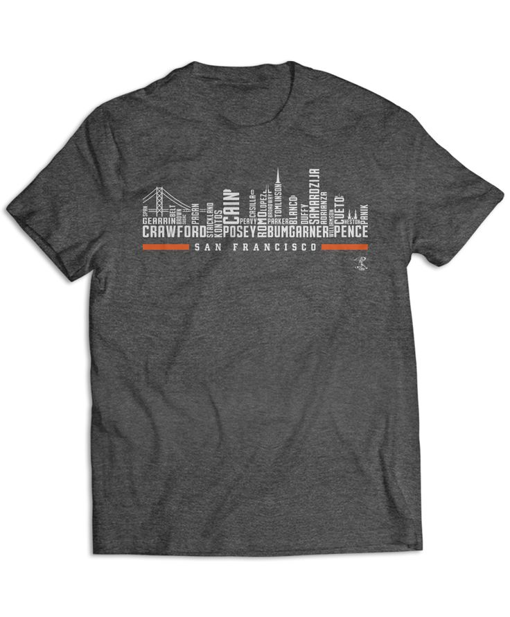 Buster Posey - City Skyline With Player Names