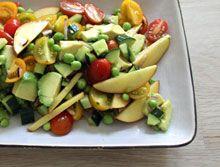 Salat Tøsen » Sommersalsa med nektarin og avocado