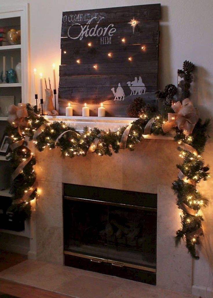 Diy Christmas Decoration Projects For Fireplaces Worth Trying Diy Projects Christmas Mantel Decorations Christmas Fireplace Decor Christmas Fireplace