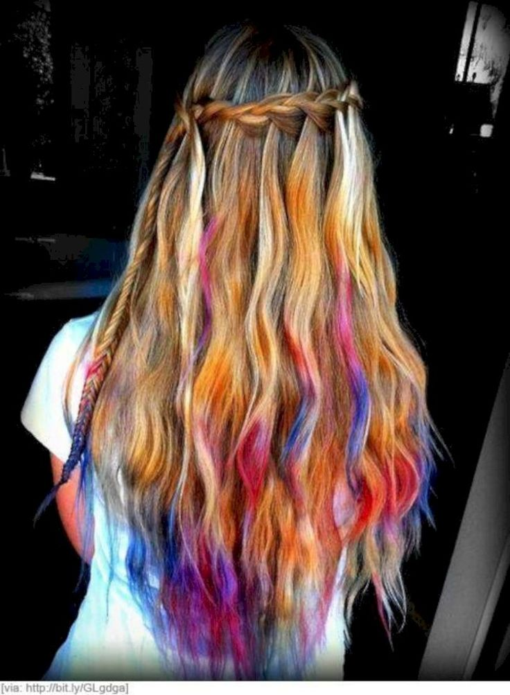42 Amazing Winter Style with Rainbow Hair