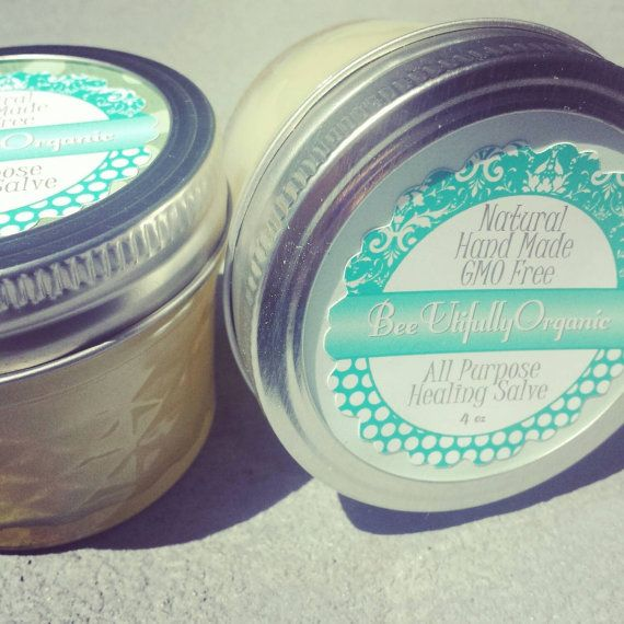 Check out this item in my Etsy shop https://www.etsy.com/listing/171267936/organic-all-purpose-healing-salve-no