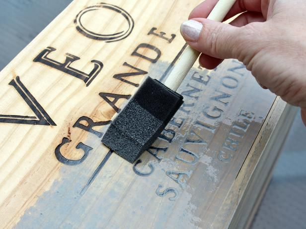 Transform a Wine Crate Into a Decorative Storage Box : Decorating : Home & Garden Television