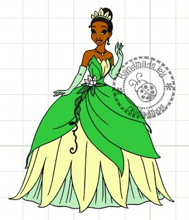 Okieladybug's Scrap N' More: Princess Tiana Ballgown